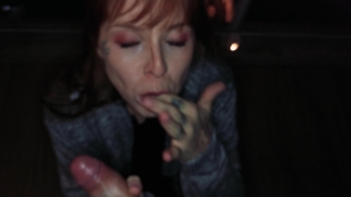 He cum to fast, I Swallow it. Public blowjob and anal at night