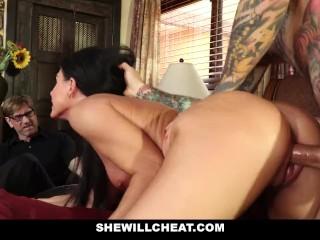 SheWillCheat – Stepmom Caught Using Dildo