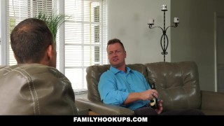 FamilyHookUps - Horny Teen Rides Dads Friend