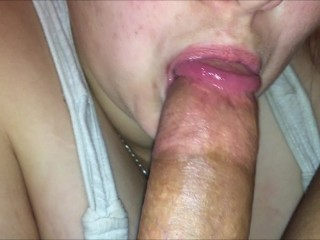 Best milf blowjob video iphone blowjob pov closeup deep throat & cum swallowing, big cock chubby mom