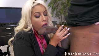 Jules Jordan - Bridgette B Big Tit MILF Gets Dredd's Big Black Cock Husband interracial