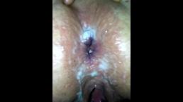 2018-10-05 - fuckmeat's anal creampie - 3 loads in her ass