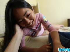 Date Slam - Young Asian babe gets cum fed on 1st date - Part 1