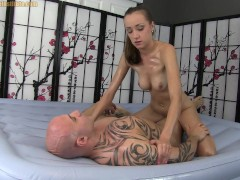Oil Massage Handjob Blowjob 69 and Sex with Victoria