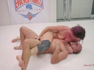 Fucks Husband Wrestling video: MILF fucks her husband after she wins Mixed wrestling fight