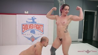 Wrestling she fucks fight mixed milf wins her after husband analized sitting