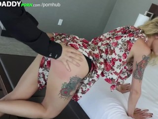 Boiling hot Blonde SugarBaby With Unbelievable Physique Fucked To Pay For Classmate