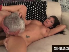 Long Haired Mature Slut Carolyn Jewel Takes a Thick Cock in Mouth and Pussy