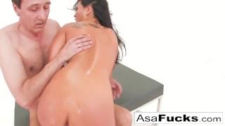 Akira hot has a anal threesome asa akira hard