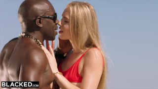 BLACKED Blonde tourist fucked in the ass by black local Gropes slim