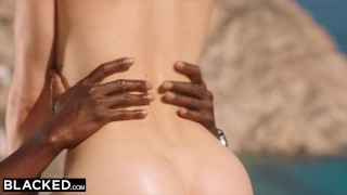 BLACKED Blonde tourist fucked in the ass by black local Dick handjob