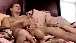 Handsome young Chez sucked off before passionate bareback