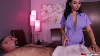 Russian lady treatment cock brunette busty