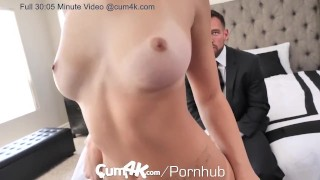 CUM4K Wedding Night Multiple OOZING creampies Sex blowjob