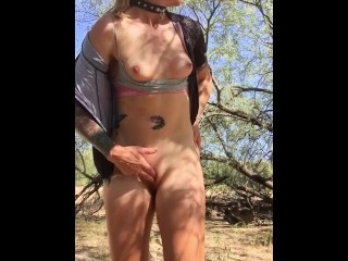 Horny Biker Begs for Cock Standing Orgasm
