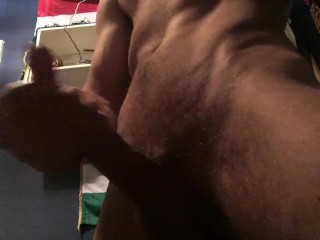 Playing with my rockhard Cock