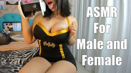 ASMR Sexy Cosplay BatGirl Joi males Females Punheta Guiada Lesbica e homens