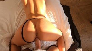 Fit young sex wife trainingmorning amateur back from best of