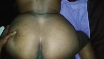 Ebony BBW Mysteri Moans taking back shots