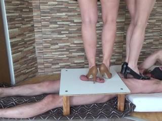 Forum movie spamfree xxx high heels cbt and trampling, rough bdsm 3some high heels trample high heels