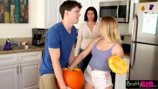 Pumpkin fuck halloween brother pov