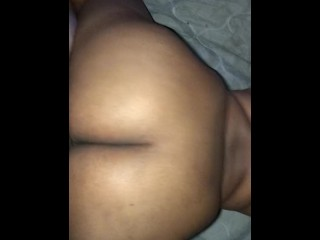 BBW shakes fat ass on white boyfriend's wet dick