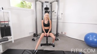Fit18 - Kiara Cole - 41kg - 155cm - Tiny Naive American Teen - 60FPS porno