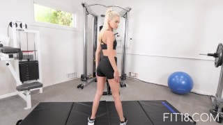 Fit18 - Kiara Cole - 41kg - 155cm - Tiny Naive American Teen - 60FPS School young