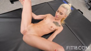 Fit18 - Kiara Cole - 41kg - 155cm - Tiny Naive American Teen - 60FPS Blonde bbc16024