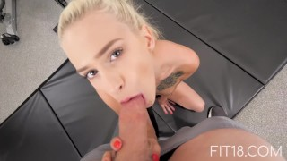 Fit18 - Kiara Cole - 41kg - 155cm - Tiny Naive American Teen - 60FPS Oral small