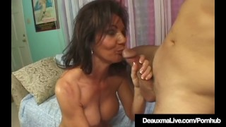 Squirting Cougar Deauxma Jets Her Juice While Fucking! Socks tits