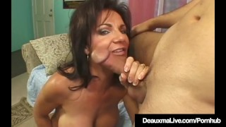 Squirting Cougar Deauxma Jets Her Juice While Fucking! Rimjob rimming