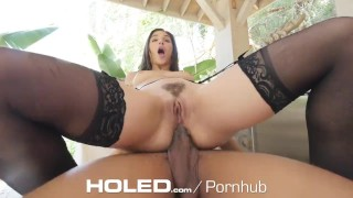 HOLED Tight fit for tight ass Abella Danger Hooker gobbler