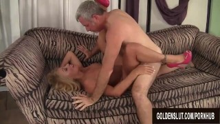 Hot to Trot Mature Blonde Crystal Taylor Sucks Cock and Gets Plowed Of step