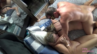 Behind The Scenes  Atlanta Swingers After Party  Foursome Hubby Films Glasses fat