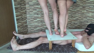 CBT Trampling with two ladies