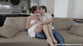 Teeny Lovers - Aruna Aghora - Sensual fuck and hot creampie porno