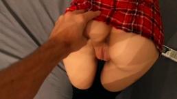Teen Amateur stöhnt laut, Dick Saugen und schluckt Sperma. HD 1080p