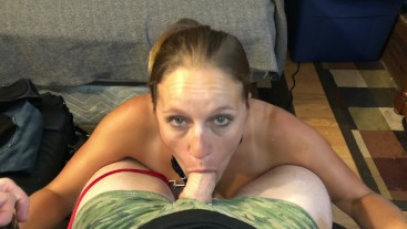 Milf Whore Leashed Up Sucking Cock On Knees In 4k Facial Blast The