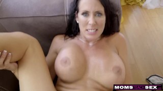 Step MomsTeachSex - Step Mom And Son Cum Together S9:E1 Cowgirl creampie