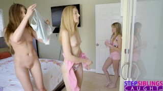 Step pussy sisters teen playing cousin welcome se licking girl