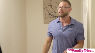Pervy Step Parents Watch Bro Cum Inside His StepSis - My Family Pies S4:E3 Milf bombshell