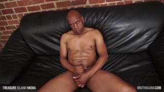 Black daddy milks his cock HD