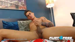 Jeremmy Bloom on Flirt4Free - Cock Close Up of His Cum Ridden Dick