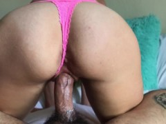 Stepmom milks cock with pussy getting multiple creampies not knowing