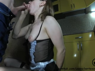 Maid Gets Fucked in Kitchen