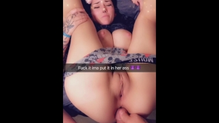 Little on friends cum ass snap virgin sisters my with filled pov brunette