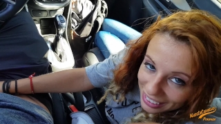 With girlfriend anal rental the my orgasm in wet car point view