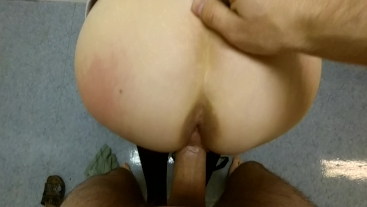 Cleaning Lady Gaged, Fucked hard and Creampied twice at Work By Worker