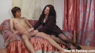 Bisexual Domination And Gay Femdom Fantasy Porn  strap on ass fuck big cock femdom blowjob yourbifantasy toys milf handjob bisexual cock sucking fingering anal ass play